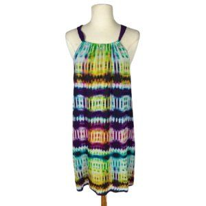 Trina Turk Rancho Watercolor Print Silk Dress 8